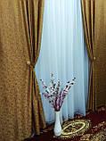 Штори с ламбрекеном из жаккардовой ткани на карниз 2.5 - 3.5 м, фото 6