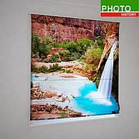 Римские фотошторы красный каньон над водопадом