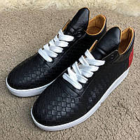 Мужские кроссовки Filling Pieces Low Top Ripple Braided Black, Копия, фото 1