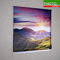 Римские фотошторы закат в горах