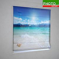 Римские фотошторы  песчаный пляж на Карибских островах