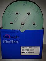 Абразивные диски Sunmight FILM на основе синтетической пленки диаметр 150мм зерно P1200
