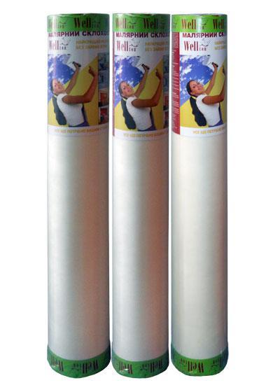 Малярный стеклохолст Wellton-эконом 40 гр/м2, 1х50 м
