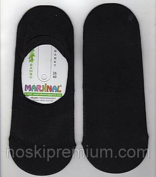 Подследники женские бамбук с сеткой Marjinal, ароматизированные, чёрные, 02227