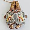 Кофейный заяц в кожушке. Украинский сувенир.