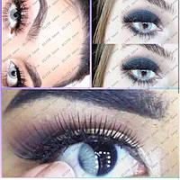 """Светло-серые цветные линзы """"ELITE Lens"""", модель """"Айс грэй"""" на тёмных глазах"""