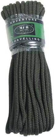 Верёвка 7мм х 15м оливковая MFH 27503B