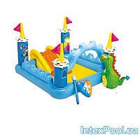 Детский надувной бассейн-игровой центр Intex «Фэнтези Замок», 183 х 152 х 107 см, с игрушками , фото 1