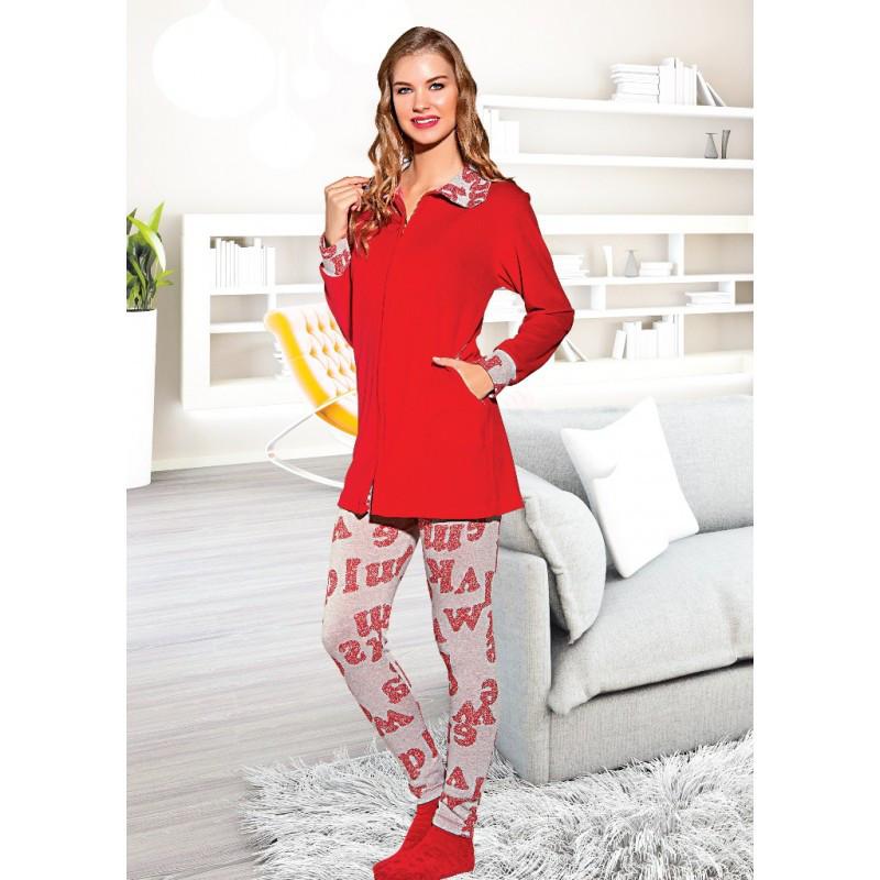 Домашняя одежда Lady Lingerie - Велюровый костюм 15595 L