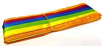 Лента гимнастическая (цвет: радуга)