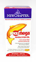 Омега из Рыбьего Жира 1000мг, Wholemega, New Chapter, 120 желатиновых капсул