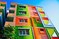Окраска фасадов многоквартирных жилых домов. Промальп