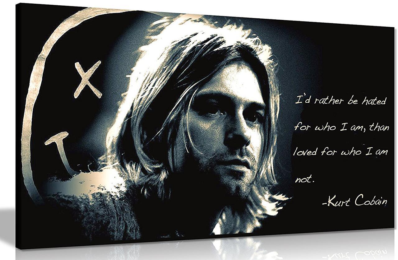 Картина 60х40 см Nirvana Нирвана Kurt Donald Cobain
