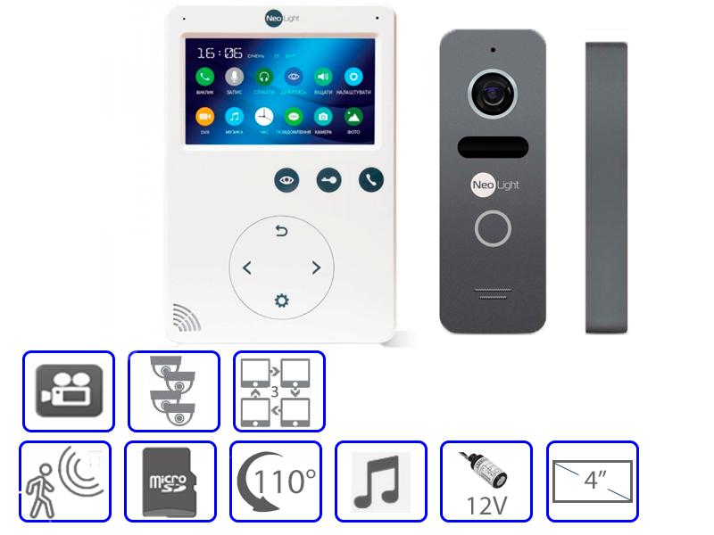 Комплект домофонной системы Nelight SOLO + Neolight Tetta +