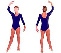 Купальник для художественной гимнастики темно-синий М (30-32)