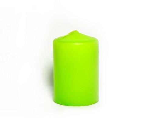 Свеча цилиндр 40х60мм салатовая
