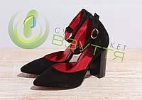 Туфли женские из натуральной замши Balayan 953 ч-з 37,38,39 размер, фото 1
