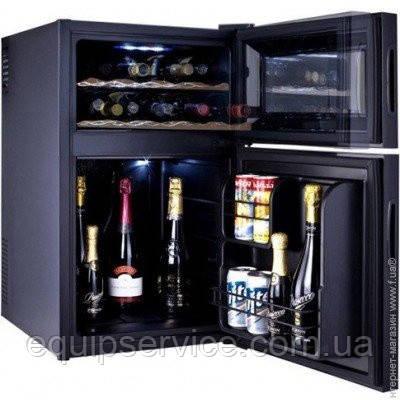 Шкаф для вина черный минибар Hilton витрина сенсорный