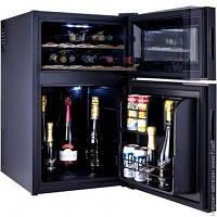 Шкаф для вина черный минибар Hilton витрина сенсорный, фото 1