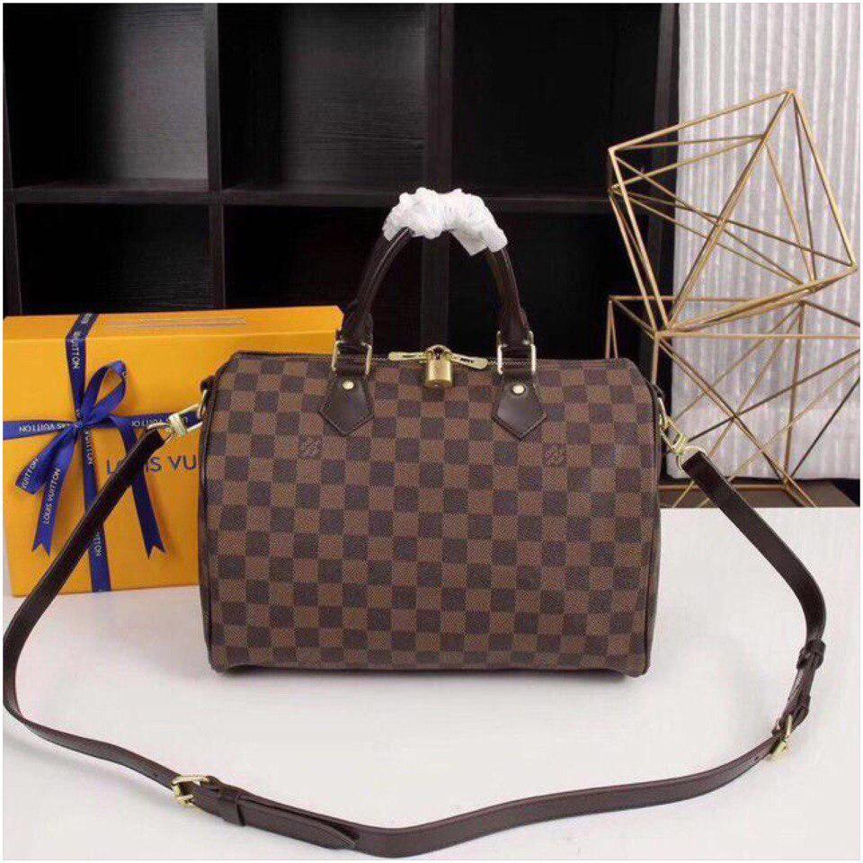 Сумка Louis Vuitton Луи Витон Speedy Damier Eben 30 см кожаная -  Annashop.com. c81b4173a14