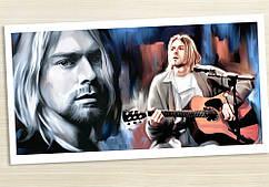 Картина 60х40 см Nirvana Нирвана Kurt арт