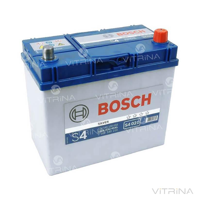 Аккумулятор BOSCH 45Ah-12v S4010 (238x129x227) со стандартными клеммами | R, EN330 (Азия) (1-й сорт)