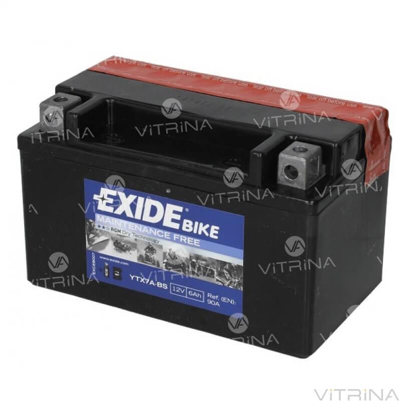 Аккумулятор EXIDE 6Ah-12v AGM ETX7A-BS (150х87х93)| L, EN90 (Европа)