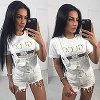 Женские шорты на бретелях из джинса 4010571, фото 1