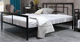 Кровать металлическая КВАДРО в стиле Лофт, фото 2