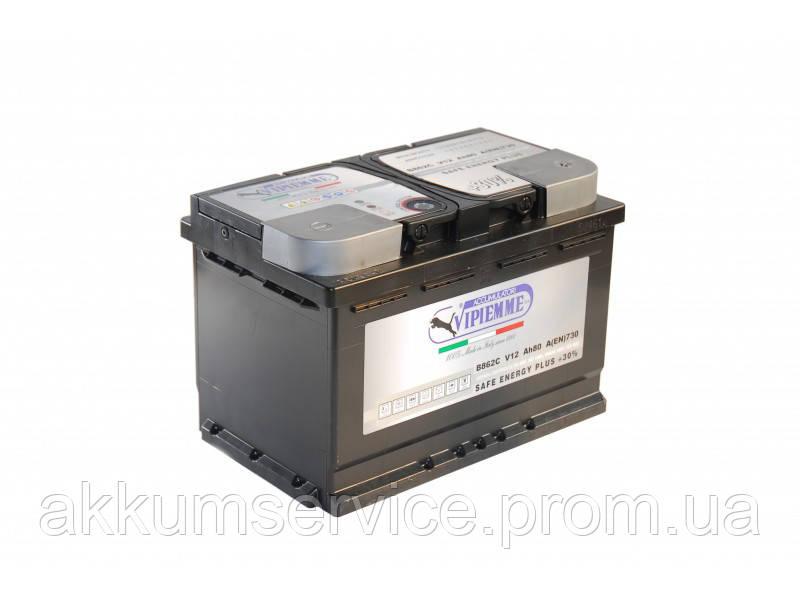 Аккумулятор автомобильный Vipiemme SAFE ENERGY PLUS 80AH R+ 730A (B016C)
