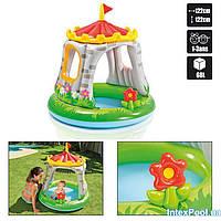 """Детский надувной бассейн Intex """"Королевский замок"""" с навесом, 122 х 122 cм , фото 1"""