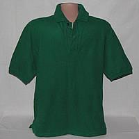 Поло мужское зеленого цвета р.50-52 б/у