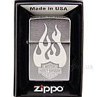 Зажигалка Zippo 200 Brushed Chrome Матовый хром 200507, фото 3
