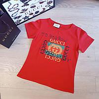 Футболка женская Gucci красная, фото 1