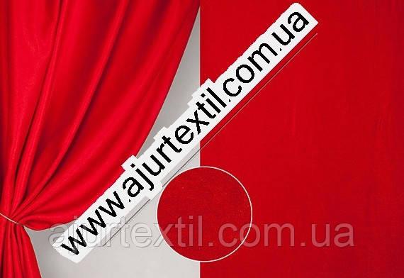 Штора велюр -софт красный, фото 2