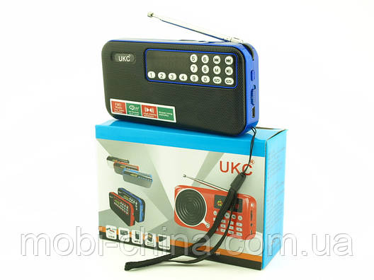 FM приемник UKC SPS T7 (U7) с MP3, черный с синим, фото 2
