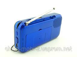 FM приемник UKC SPS T7 (U7) с MP3, черный с синим, фото 3