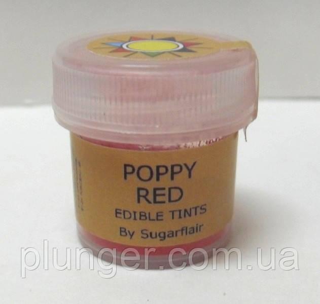 """Краситель пищевой сухой """"Красный мак"""" 5мл Sugarflair"""
