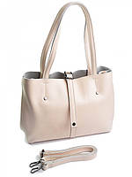 Женская кожаная сумка 1033G бежевая, фото 1