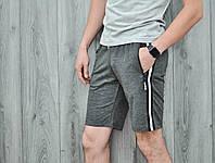 Мужские шорты полоска темно-серые