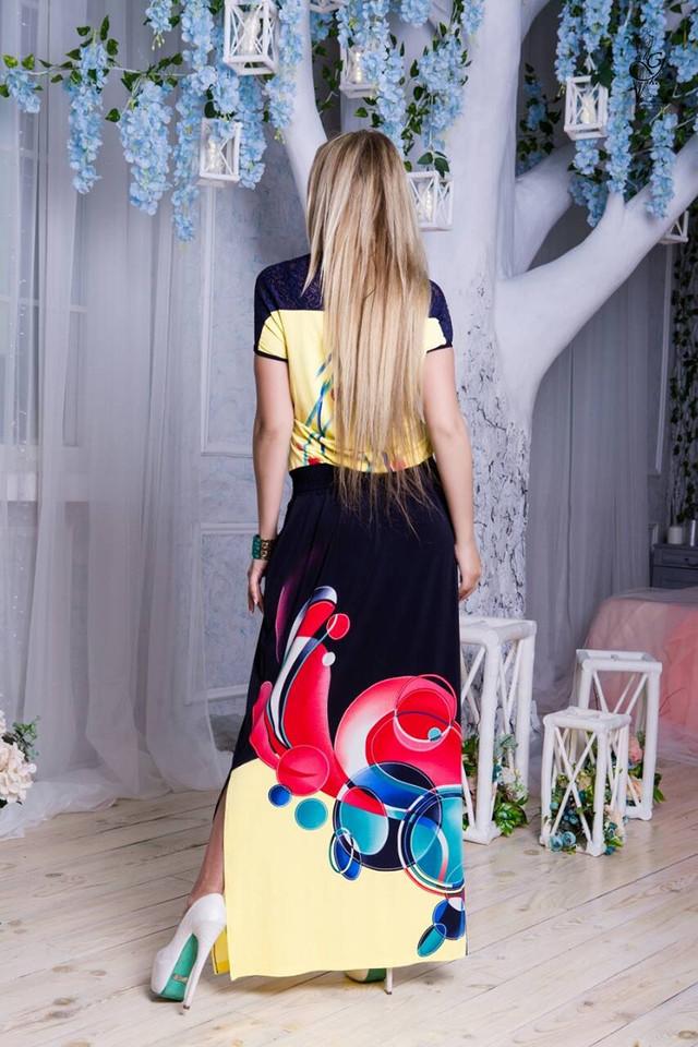 Фото-2 Длинного ботального летнего платья Ирма-10