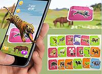 Интерактивная игра 4D обучающие карточки AR CARD FANCY ZOO