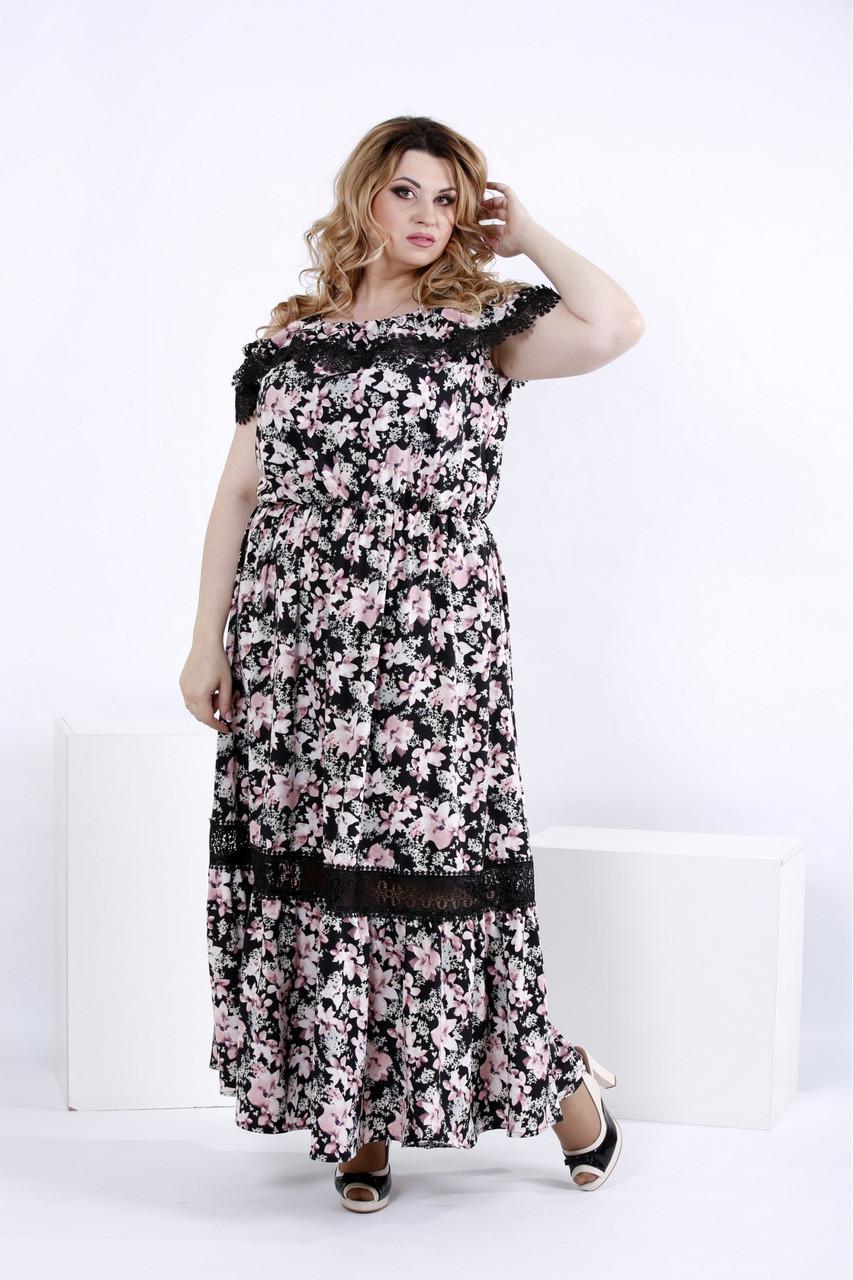 e731e6c6bb5 Я-Модна - купить Женское длинное летнее платье с цветами