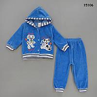 """Велюровый костюм """"Далматинцы"""" для мальчика."""