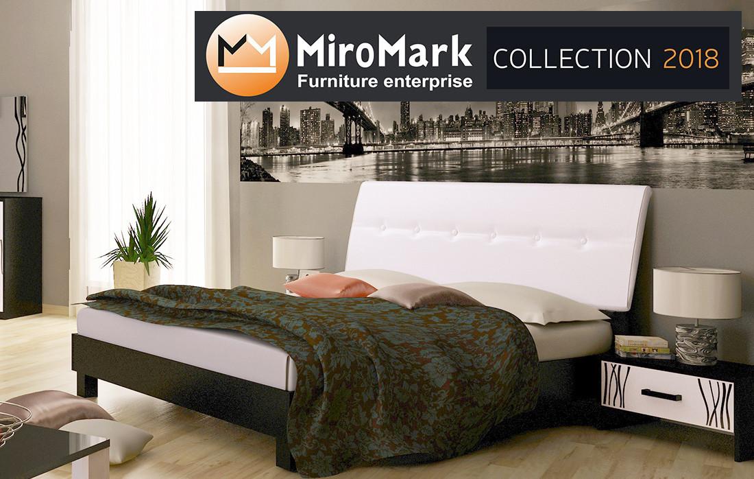 Кровать Терра 160х200 с мягкой спинкой подъемная  Миромарк