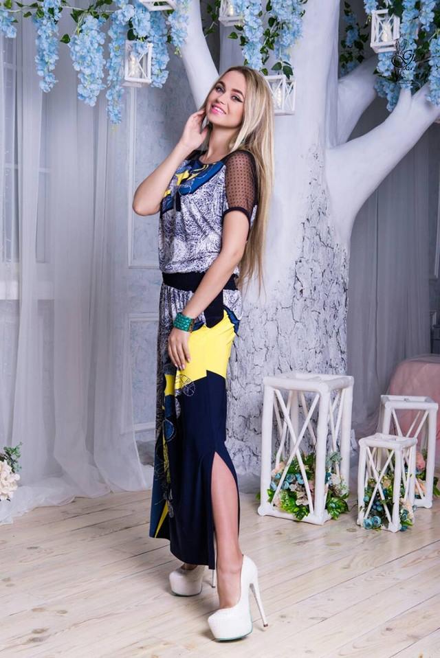 Фото-1 Длинного ботального летнего платья Ирма-6
