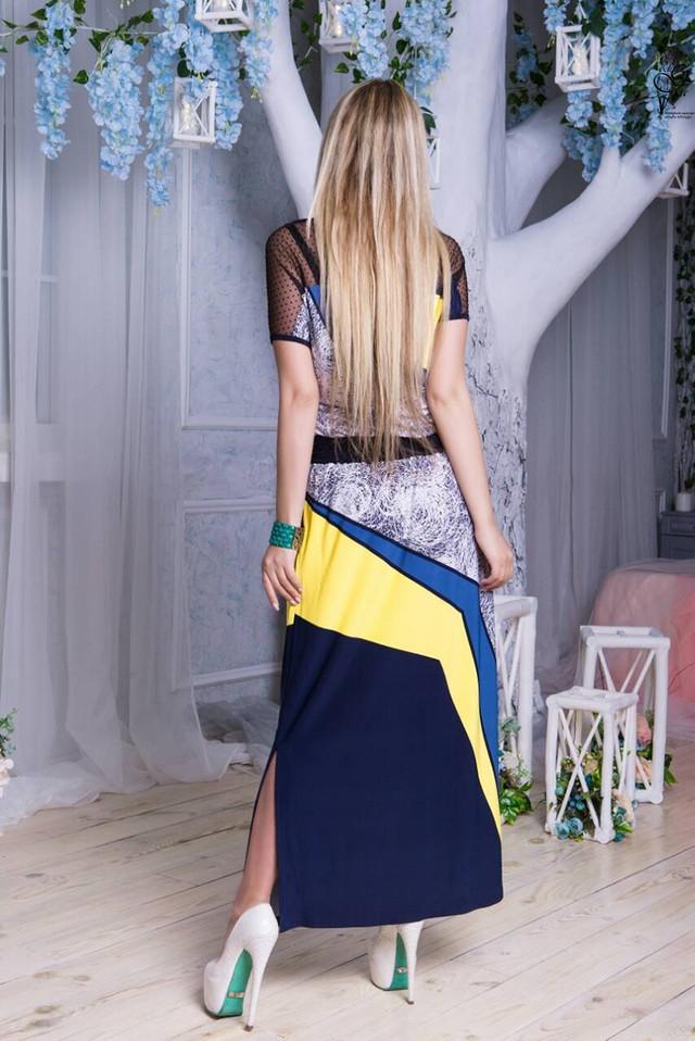Фото-2 Длинного ботального летнего платья Ирма-6