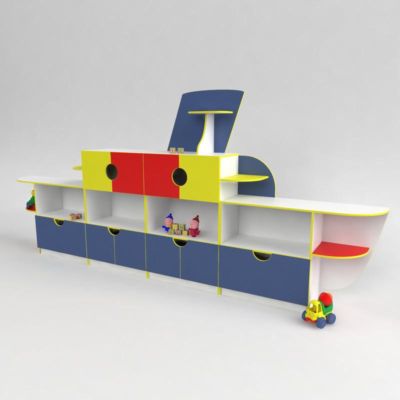 Детская стенка Кораблик для садика от производителя