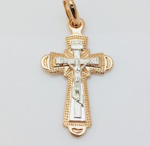 Крест Православный 3, позолота 18К Fallon