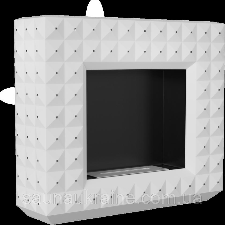 БіокамінEGZUL с кристаллами Swarovski белый матовый